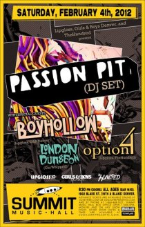2012-02-04 - Passion Pit DJ Set at Summit Music Hall