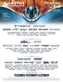 2012-03-23-25 - Ultra Music Festival (UMF) - Bayfront Park - Downtown Miami, Florida - March 23-25, 2012 (Phase 1 Lineup)
