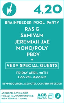 Brainfeeder Party // Ace Hotel // Palm Springs, CA // April 20, 2012