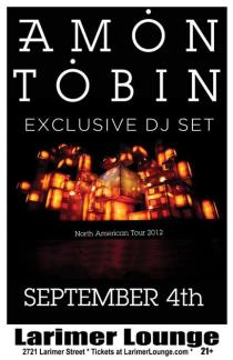 Amon Tobin Afterparty/Exclusive DJ Set // Larimer Lounge // 2721 Larimer St., Denver, Colorado 80205 // Tuesday, September 4, 2012