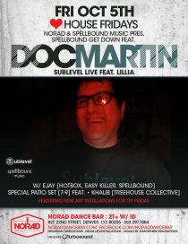 Doc Martin // Norad Dance Bar // Denver, Colorado // Friday, October 5, 2012