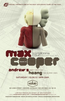 Max Cooper // Norad Dance Bar // Denver, Colorado // Saturday, October 6, 2012