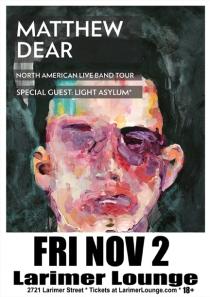 LifeMusicFun.com (Denver): Matthew Dear // Larimer Lounge // 2721 Larimer St., Denver, Colorado 80205 // Friday, November 2, 2012