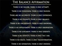 The Balance Affirmation (Original Source: Unknown)