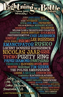 Lightning in a Bottle / LIB Lineup Poster 2013