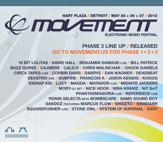 Movement 2013 // Phase 3 Lineup