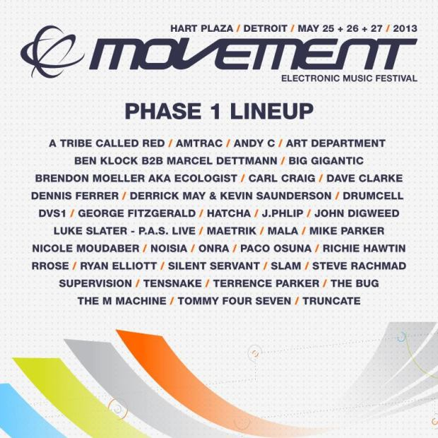 Movement 2013 // Phase 1 Lineup