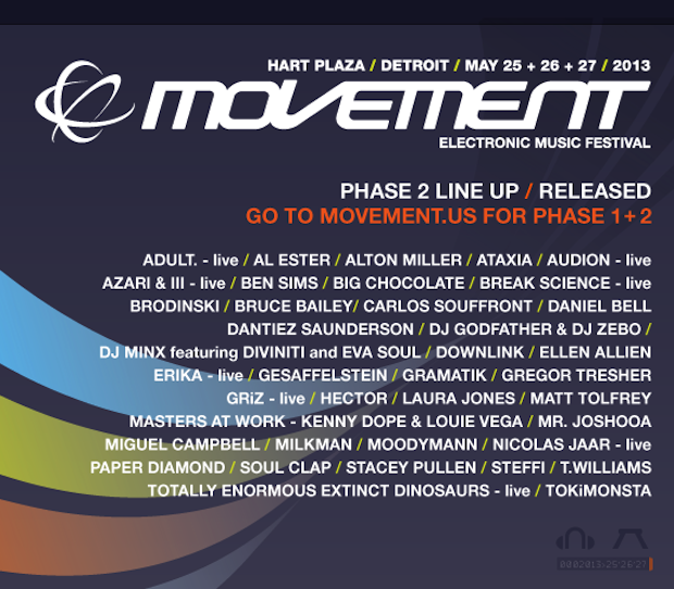 Movement 2013 // Phase 2 Lineup
