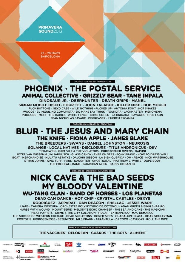 Primavera Sound Festival // Barcelona, Spain // May 22-26, 2013