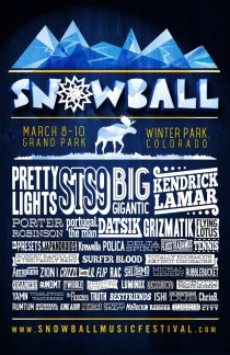 Snowball Music Festival 2013 // Winter Park, Colorado // Fri-Sun, March 8-10, 2013