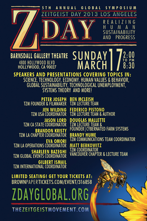 5th Annual Zeitgeist Day ZDay LA 2013 Program