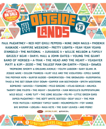 Outside Lands 2013 | Golden Gate Park | San Francisco, California | August 9-11