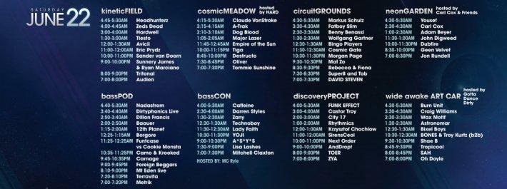 EDC 2013 - Saturday, June 22 Schedule