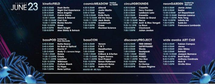 EDC 2013 - Sunday, June 23 Schedule