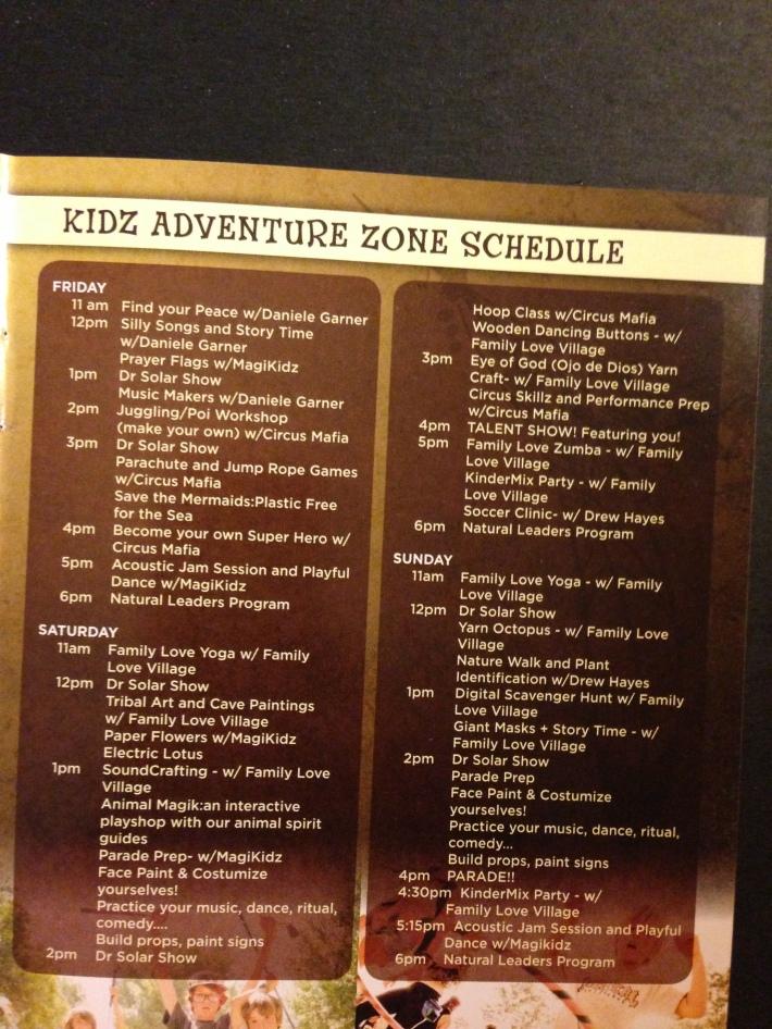 LIB 2013 Program - Kids Adventure Dome Schedule