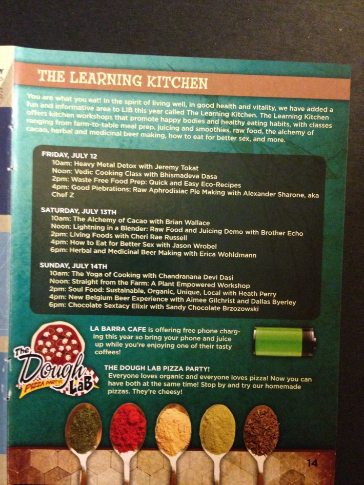 LIB 2013 Program - The Learning Kitchen Schedule