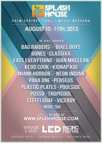Splash House 2013 - Lineup Poster