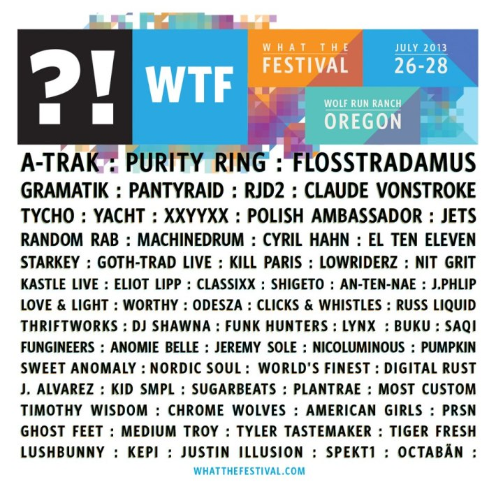 What the Festival 2013 Lineup Poster
