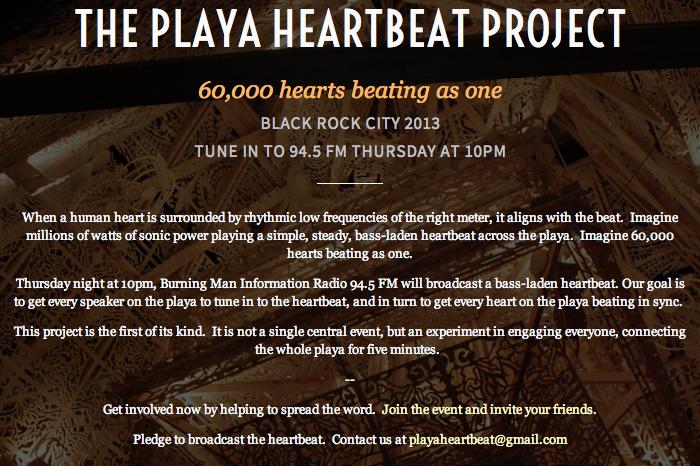Playa Heartbeat Project, Thursday 10pm 94.5fm