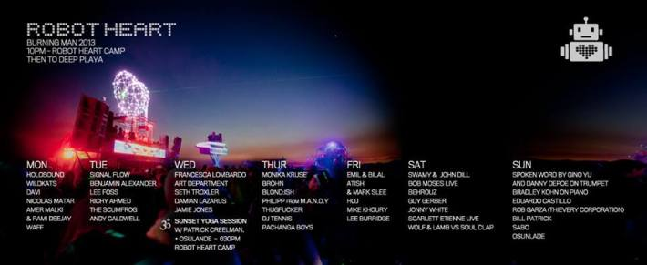 Updated Robot Heart Burning Man 2013 Lineup