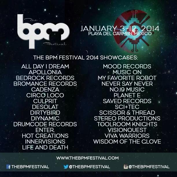 BPM 2014 Showcase Lineup