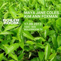 Maya Jane Coles | Boiler Room | 17 September 2013