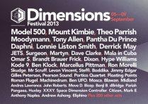 Dimensions Festival 2013 - 05-09 September