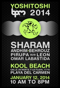 Andhim | BPM Festival 2014 | Yoshitoshi Showcase | Kool Beach, Playa del Carmen