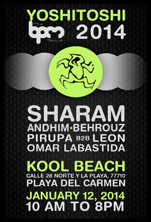 Andhim   BPM Festival 2014   Yoshitoshi Showcase   Kool Beach, Playa del Carmen