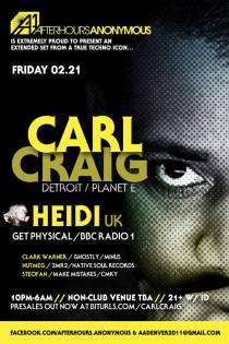 Carl Craig, Heidi - Afterhours Anonymous Denver