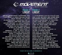 Movement 2015 Detroit Hart Plaza Phase 1 Phase 2 Full Lineup