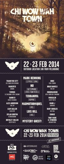 Chi Wow Wah Town Forest Party Melbourne Mark Henning RA Flyer