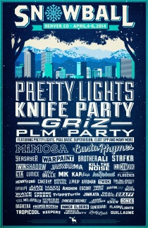 Snowball Festival 2014 Lineup Poster