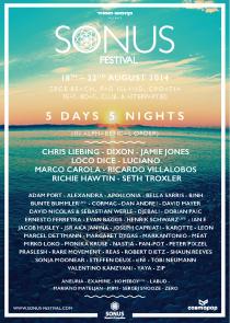 Sonus Festival 2014 Lineup Poster