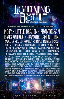 Lightning in a Bottle 2014 LIB Lineup Poster