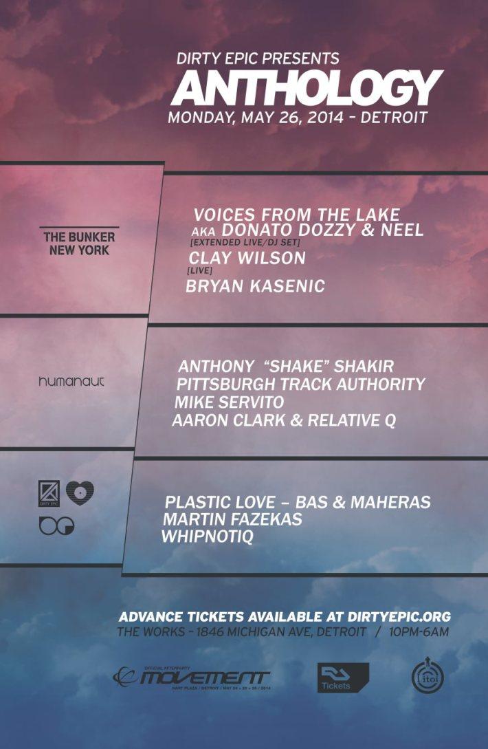 Anthology Detroit Movement 2014 After Party