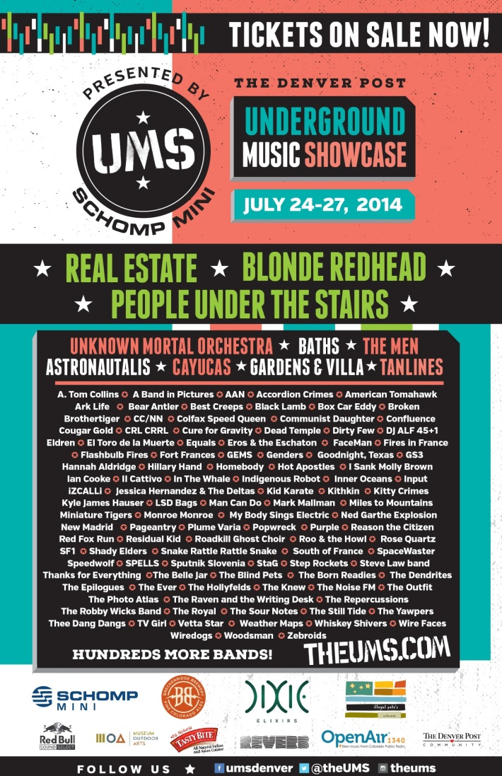 UMS Underground Music Showcase Denver 2014