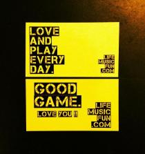 Love and Play EVERY Day GOOD GAME LifeMusicFun Sticker