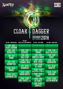 Cloak & Dagger Music Festival | Golden Triangle | Denver, Colorado | SAT SEPT 20 Schedule