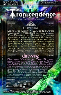 Transcendence Festival Phase 2 Lineup - Camp Pollock Campground - Sacramento CA - October 3-6, 2014
