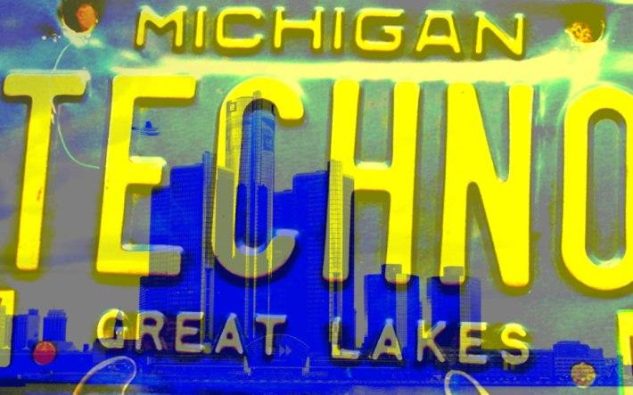 Detroit Michigan Techno License Plate