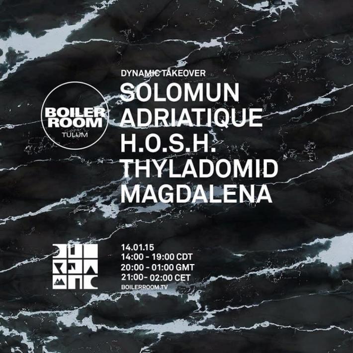Boiler Room Tulum Diynamic Takeover Solomun Adriatique, HOSH, Thyladomid, Madalena