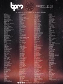 BPM Festival 2015 Full Lineup Poster