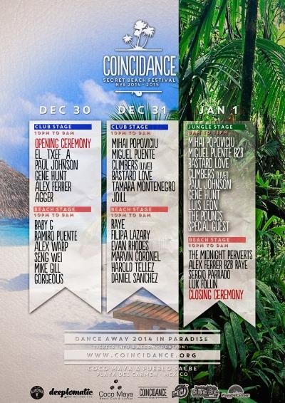 DEC 30-31, JAN 1 (Off-BPM) | Coincidance Festival | Coco Maya + Pueblo Sacbe