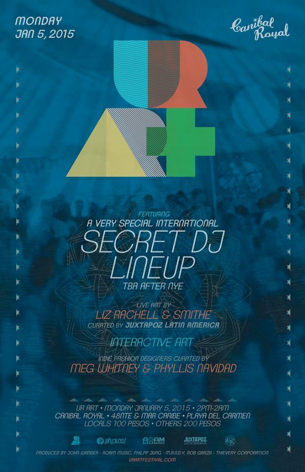JAN 05 MON [DAY/NIGHT] | OFF BPM | UR Art w/ Secret DJ Lineup | Canibal Royal | Playa Del Carmen | Calle 48 and The Beach | 2pm-2am