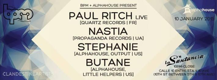 JAN 10 SAT NIGHT | BPM Festival 2015 | Alphahouse | La Santanera | 10pm-Close