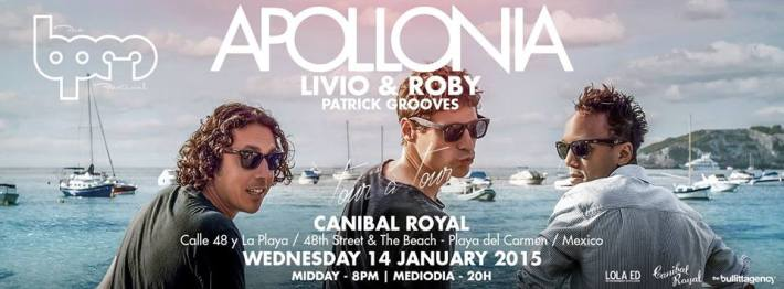JAN 14 WED DAY | BPM Festival 2015 | Apollonia | Canibal Royal | Noon-8pm