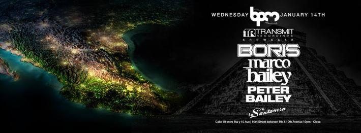 JAN 14 WED NIGHT | BPM Festival 2015 | Transmit Recordings Showcase | La Santanera | 10pm-Close