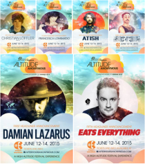 Altitude Anonymous 2015 Lineup - Eats Everything, Damian Lazarus, Christian Loeffler, Francesca Lombardo, Atish, Butch