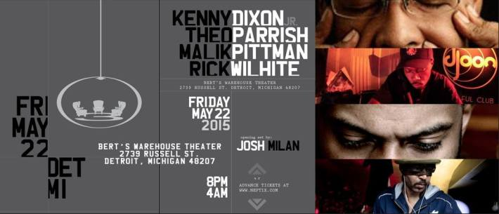 FRI MAY 22 | 3 CHAIRS w: KENNY DIXON JR, THEO PARRISH, MALIK PITTMAN, RICK WILHITE | BERT'S WAREHOUSE THEATER